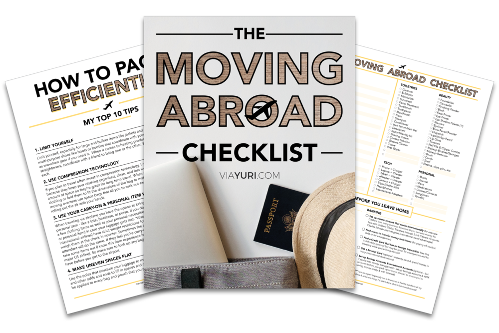 The Moving Abroad Checklist | viaYuri.com
