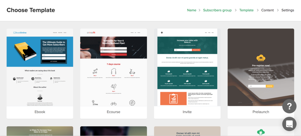 MailerLite Reivew - Landing Pages.png