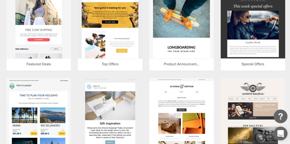 MailerLite Reivew - Email Template Gallery General.png
