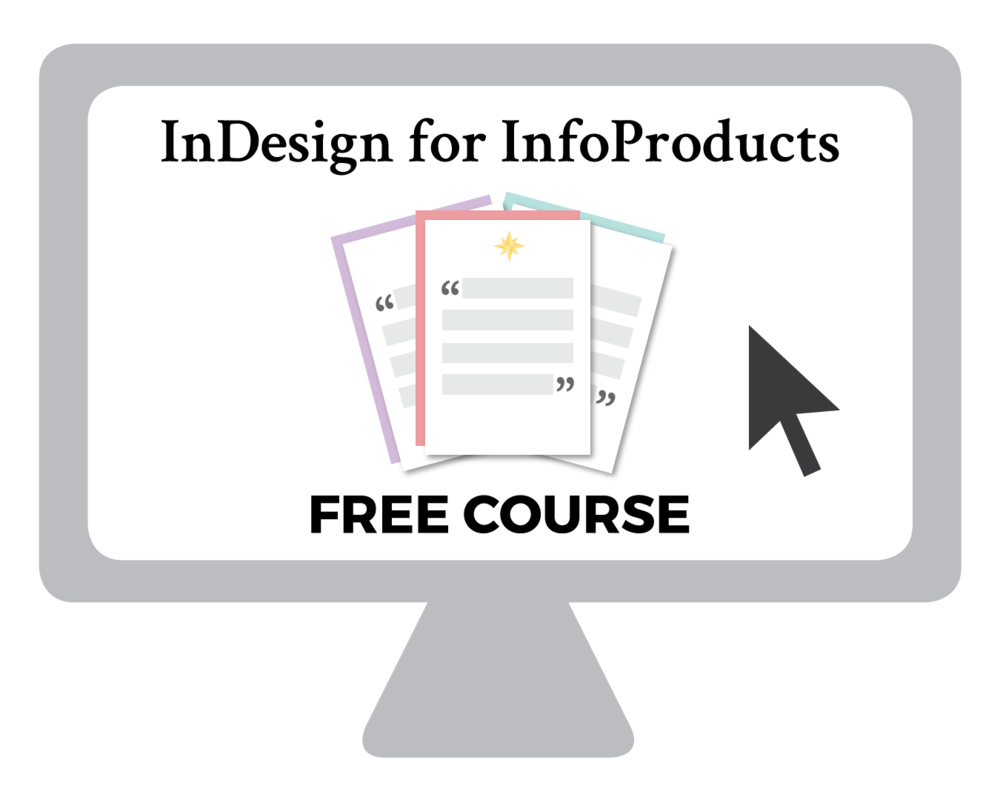Free InDesign Course for Creating Your Own Digital Products, Email Opt-ins, Checklists, Workbooks, and more! | viaYuri.com