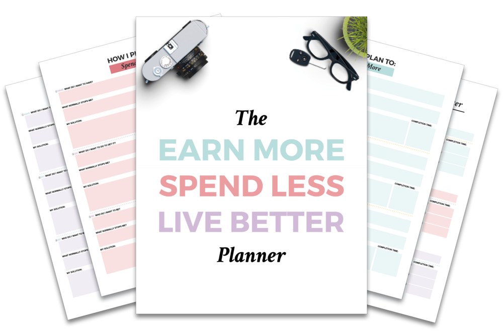 Things I've Created Using InDesign: The Earn More, Spend Less, Live Better Planner (with fillable text boxes and clickable check boxes)