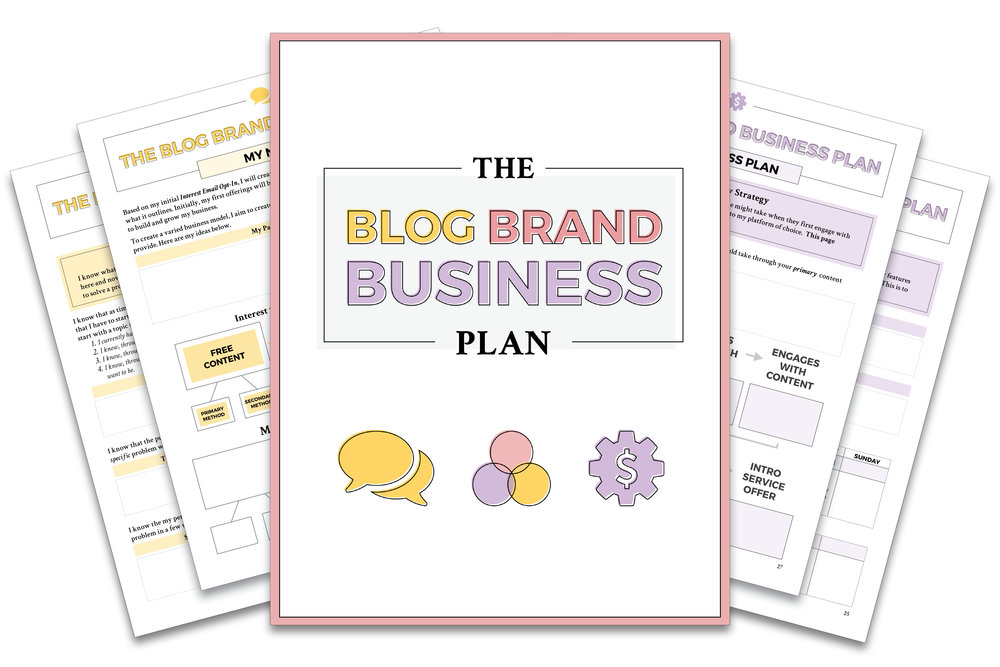 The Blog Brand Business Plan | by Yuri Gibson of viaYuri.com