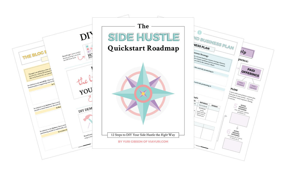 The Side Hustle Quickstart Roadmap || A FREE Side Hustle Course to jumpstart your journey in order to create a Side Hustle that means Business || viaYuri.com