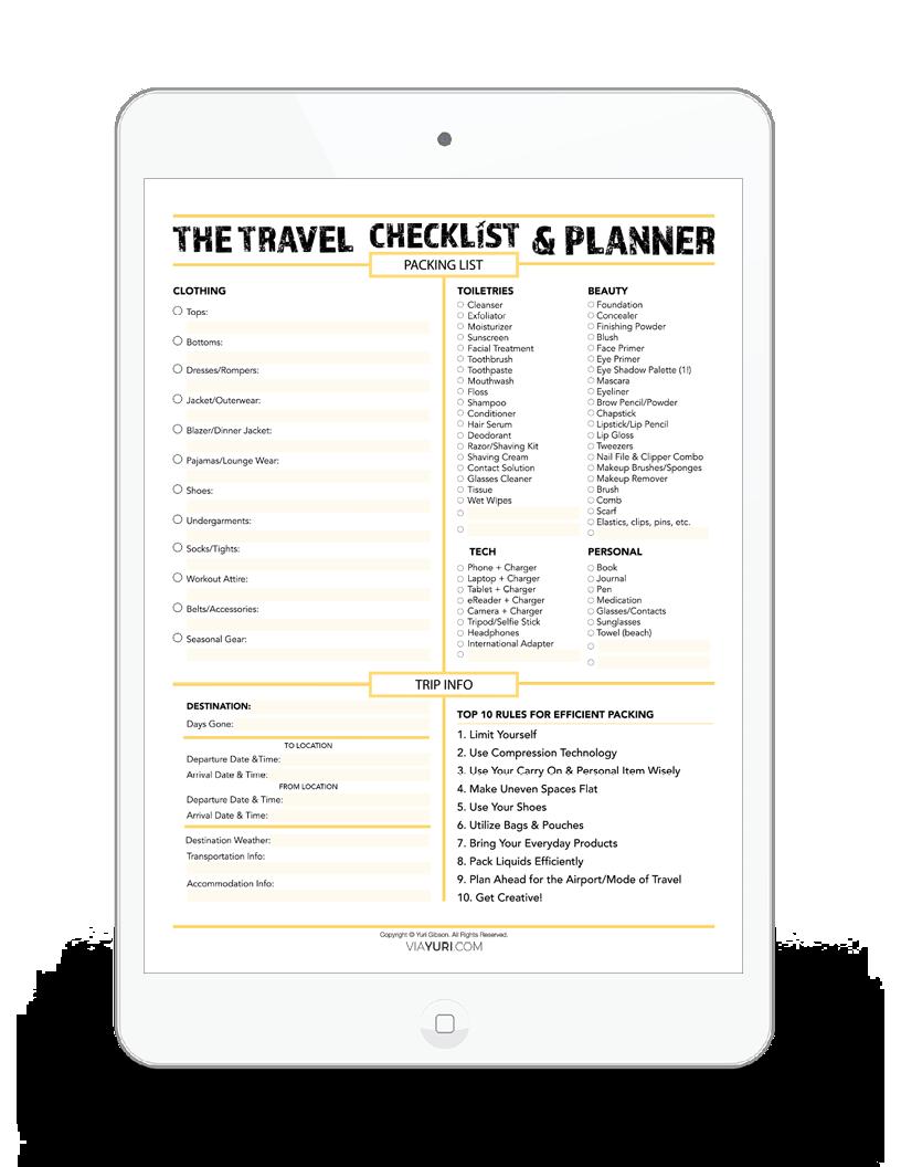 The Travel Checklist & Planner -