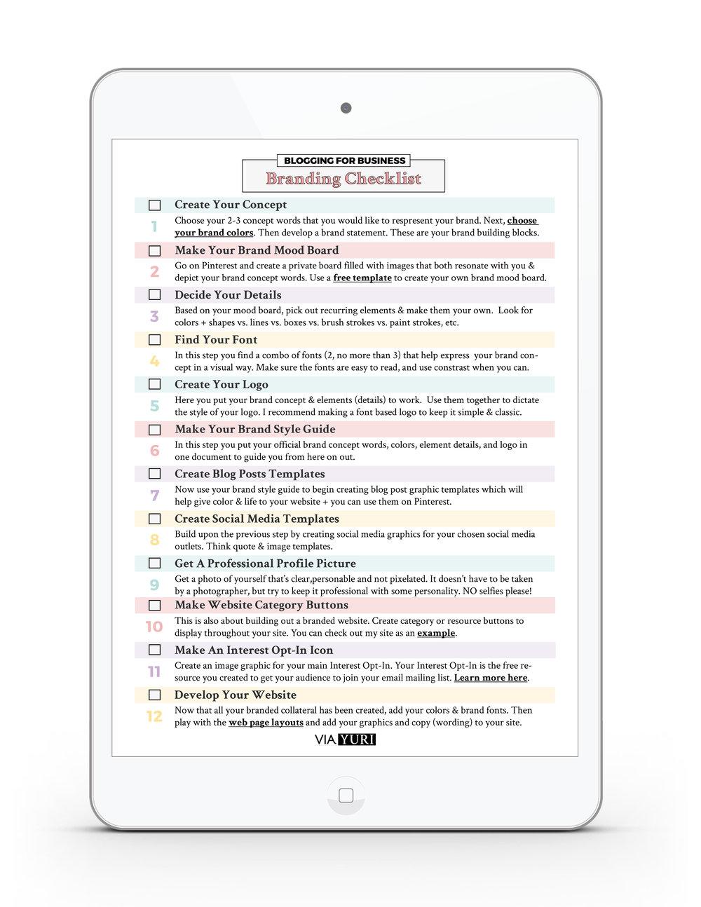Brand Your Business Checklist -