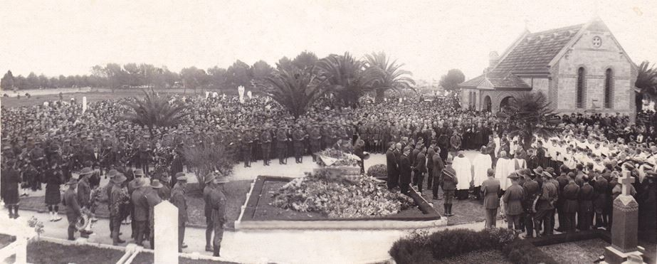 Funeral of Sir Ross Macpherson Smith on 15 June, 1922
