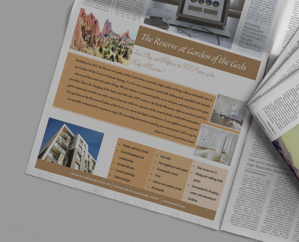 Gated Community Newspaper Ad