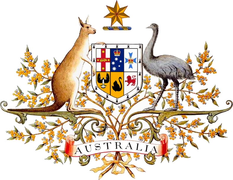 The coat of arms of Australia
