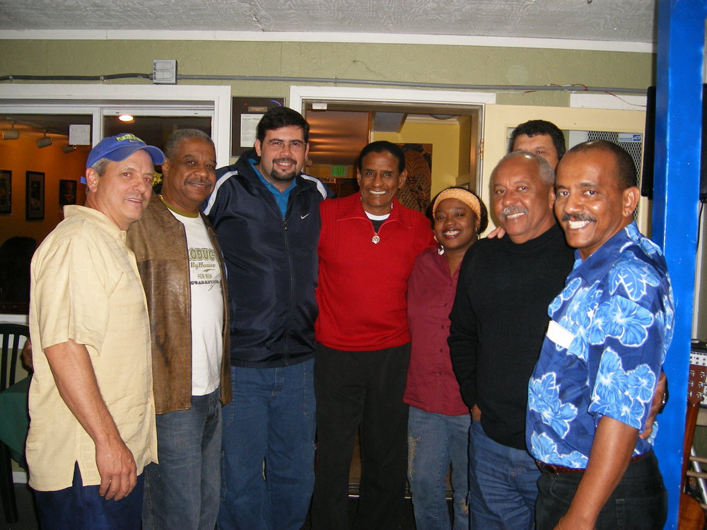 Fundo de Quintal with Tempero Do Brasil's co-owners, Bryant Urban and Antonio Ribeiro