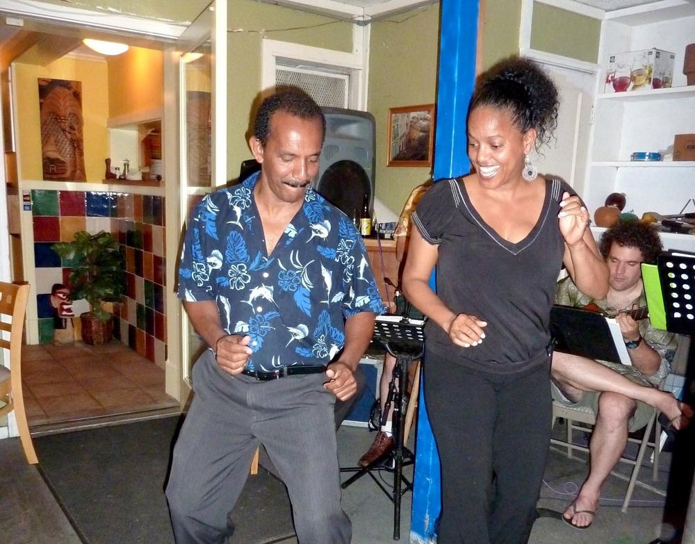 Antonio and Graca dancing samba at Tempero Do Brasil