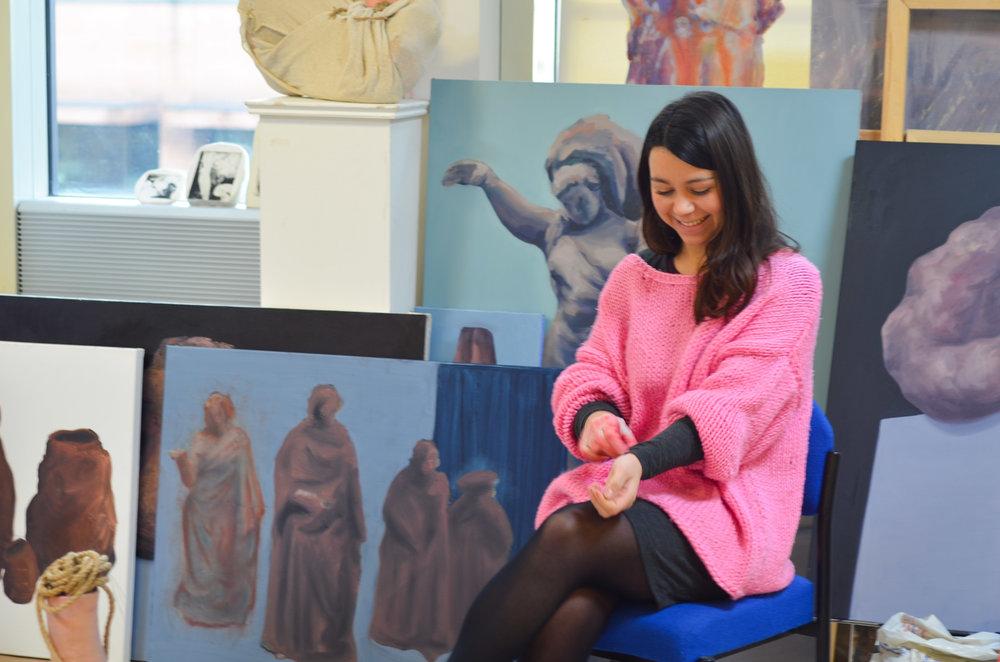 Natalia González Martín in her studio