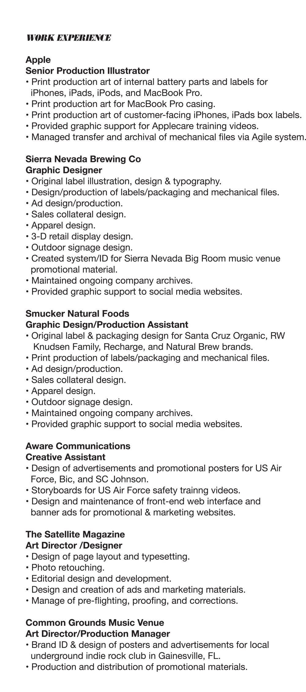 print production manager resumes