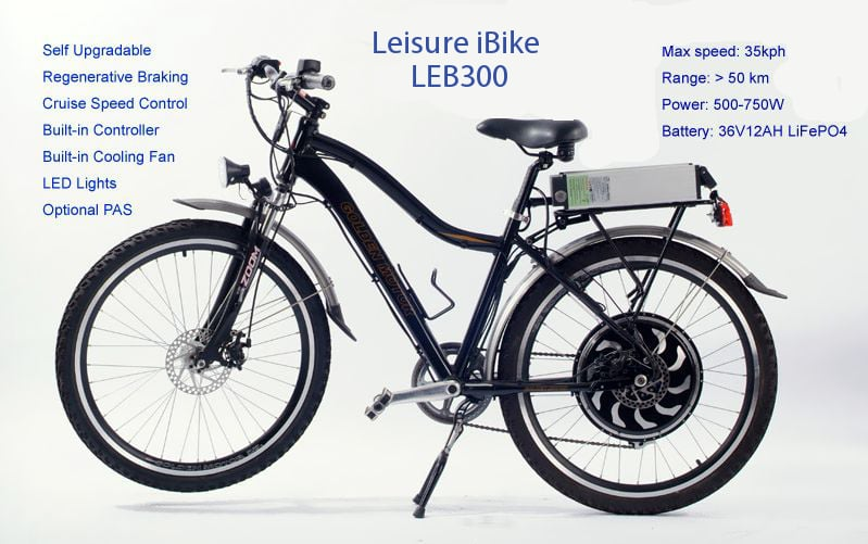 Leisure Men's Electric Bicycle Rental