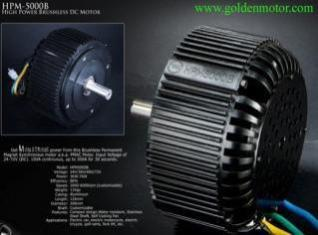 5Kw Fan Cooled BLDC Golden Motor Thailand