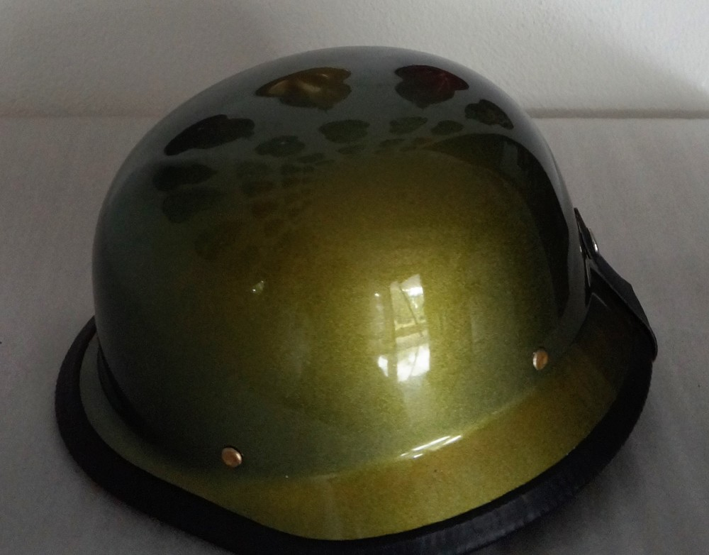 German Style Custom Painted Helmet - Chameleon