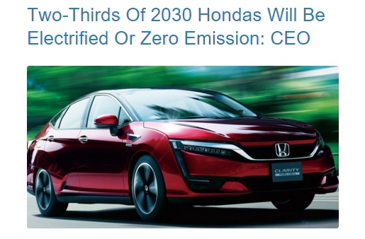 Honda Electrifies the world