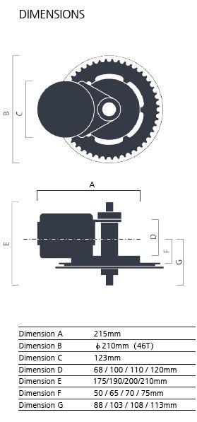 bafang BBSHD dimensions www.electricbikesthailand.com