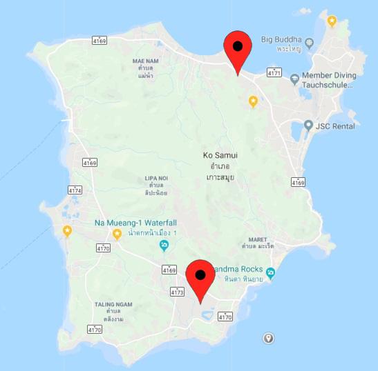 E Revolution locations on Koh Samui