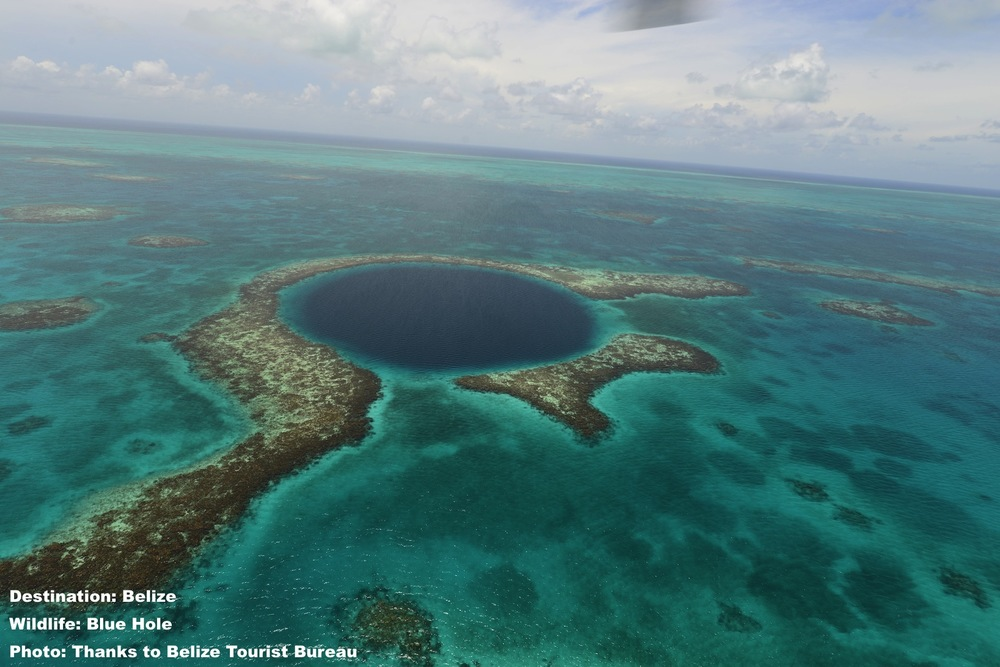 "BELIZE'S  ""GREAT BLUE HOLE"" WAS MADE FAMOUS BY JACQUES COUSTEAU IN 1971. IMAGE: THANKS TO THE  BELIZE TOURISM Board ."