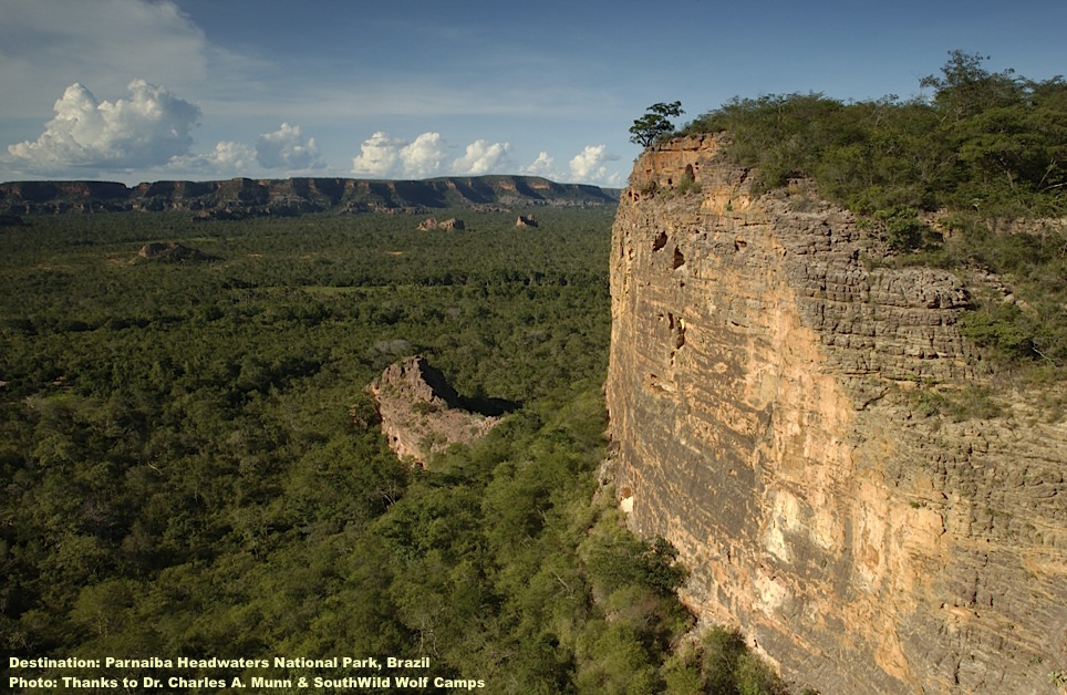 SOMETIMES BEYOND NOWHERE IS EXACTLY THE RIGHT PLACE TO BE. EXPLORE BRAZIL'S CERRADO IN PARNAIBA HEADWATERS NATIONAL PARK. PHOTO: THANKS TO DR. CHARLES A. MUNN III & SOUTHWILD WOLF CAMPS