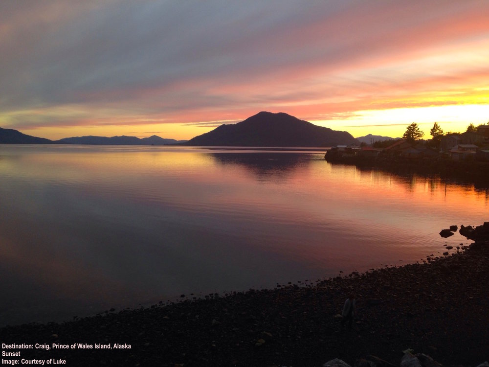 ANOTHER BEAUTIFUL Sunset OVER THE WATER at craig, prince of wales island, alaska. Image: Thanks to Luke.