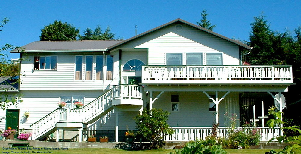 WHEN YOU ARE ON PRINCE OF WALES ISLAND YOU ARE PART OF THE FAMILY. YOUR HOSTS AT THE WELCOME INN, TIM AND TERESA, TAKE GOOD SUCH CARE OF YOU, INCLUDING TERESA'S FAMOUS HOME-COOKED MEALS, YOU MAY NEVER WANT TO LEAVE! IMAGE: COURTESY OF THE WELCOME INN