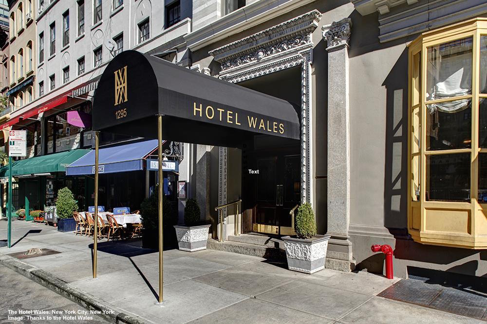 EVEN IN MANHATTAN THERE ARE QUIET CORNERS WITH LOCAL-OWNED RESTAURANTS AND SHOPS FULL OF FRIENDLY PEOPLE. THE HOTEL WALES, ONLY BLOCKS FROM CENTRAL PARK, IS LOCATED IN ONE. IMAGE: THANKS TO HOTEL WALES.