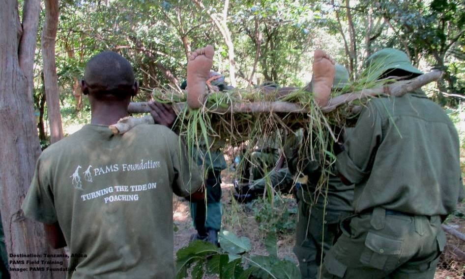 """""""An important part of our work is offering local communities the training they need for the conservation of natural resources. PAMS Foundation through Ruvuma Elephant Project (REP) is providing different trainings from chili growing to law enforcement and anti-poaching trainings for village scouts…crime scene response, patrols and many wildlife techniques. Scouts who successfully pass the courses are certified."""" IMAGE AND QUOTE FROM PAMS FOUNDATION FACEBOOK PAGE."""