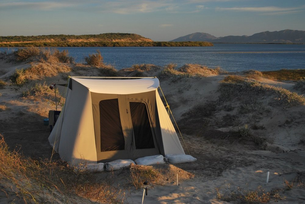 The turtle camp at Magdalena Bay
