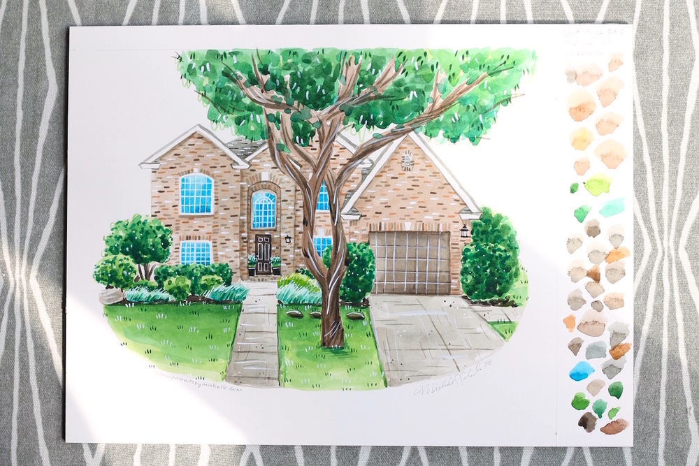 A gorgeous house makes for a pretty house portrait!