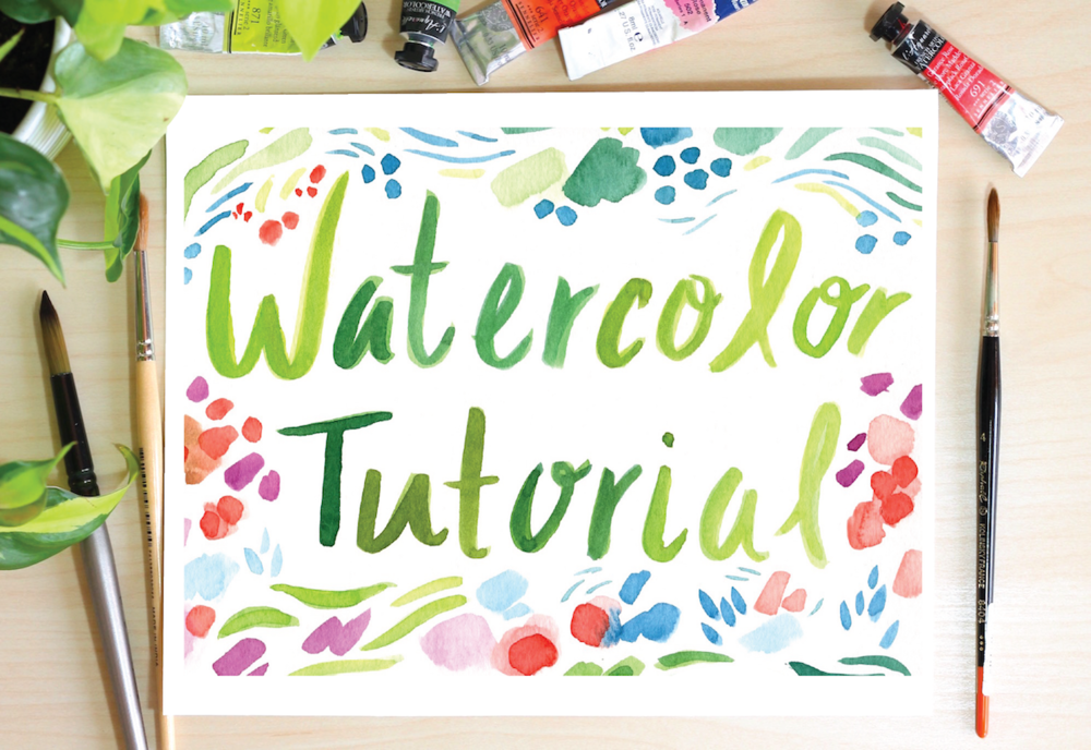 watercolor tutorial by artist Michelle Schneider