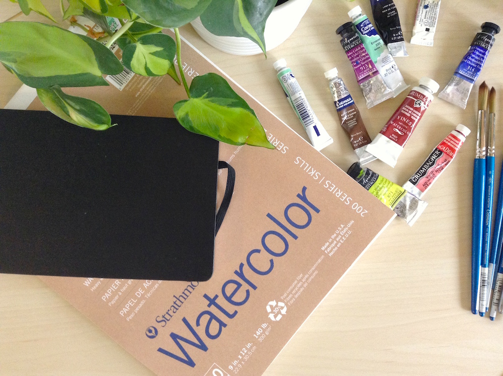 watercolor sketchbooks and supplies, learn to paint with watercolors