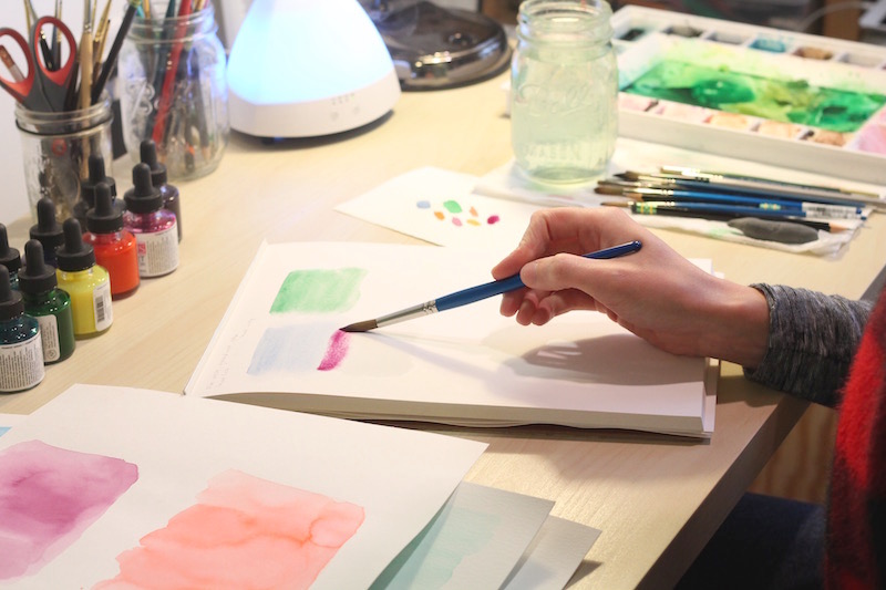 Watercolor Tutorial Lesson Two Flat Washes Custom Portraits By