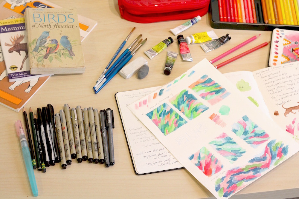 how to keep a watercolor sketchbook, painting supplies