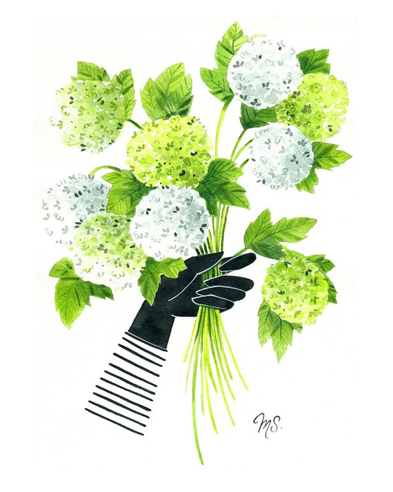 cute and modern floral illustration by michelle schneider