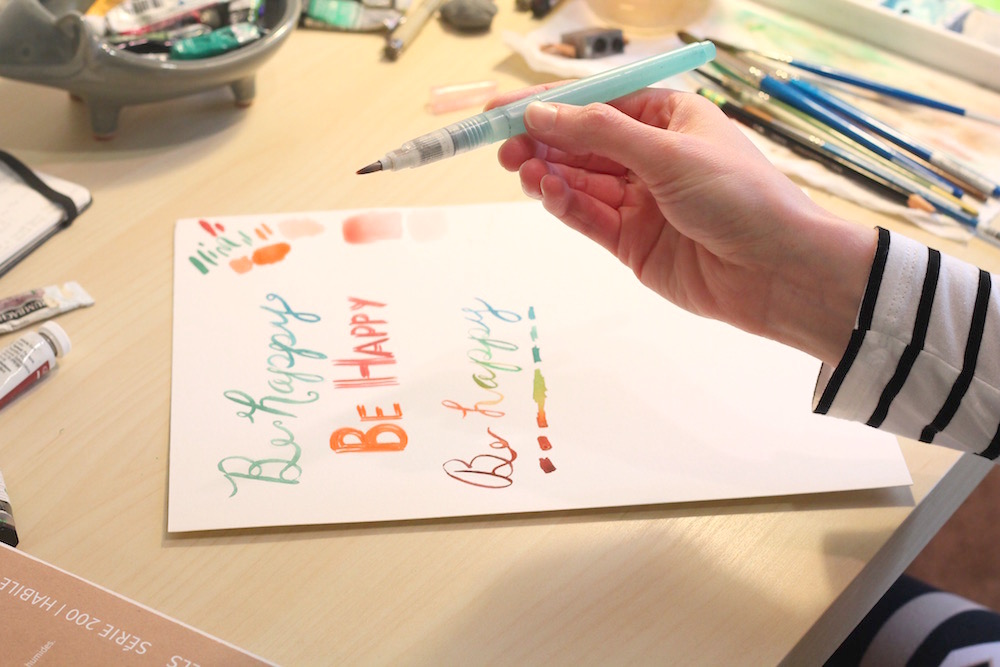 learn to use a waterbrush, watercolor tutorials