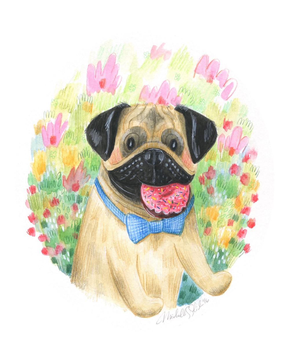new custom pet portrait