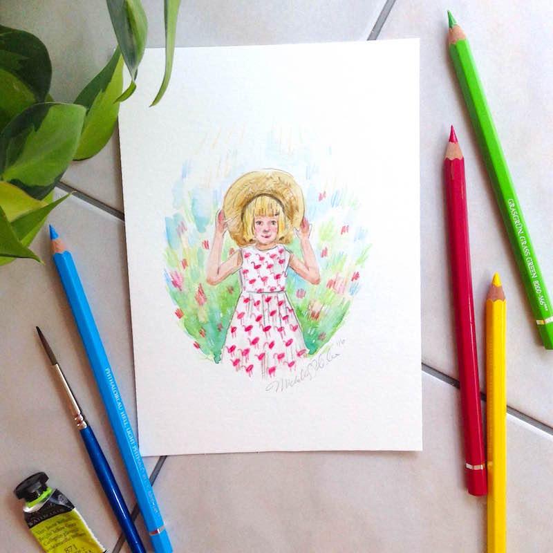 Custom Mother/Child Portrait by artist Michelle Schneider