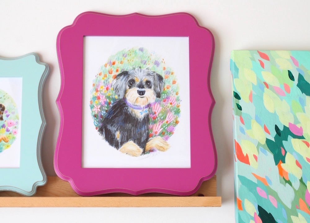 cute puppy portrait for girl's room