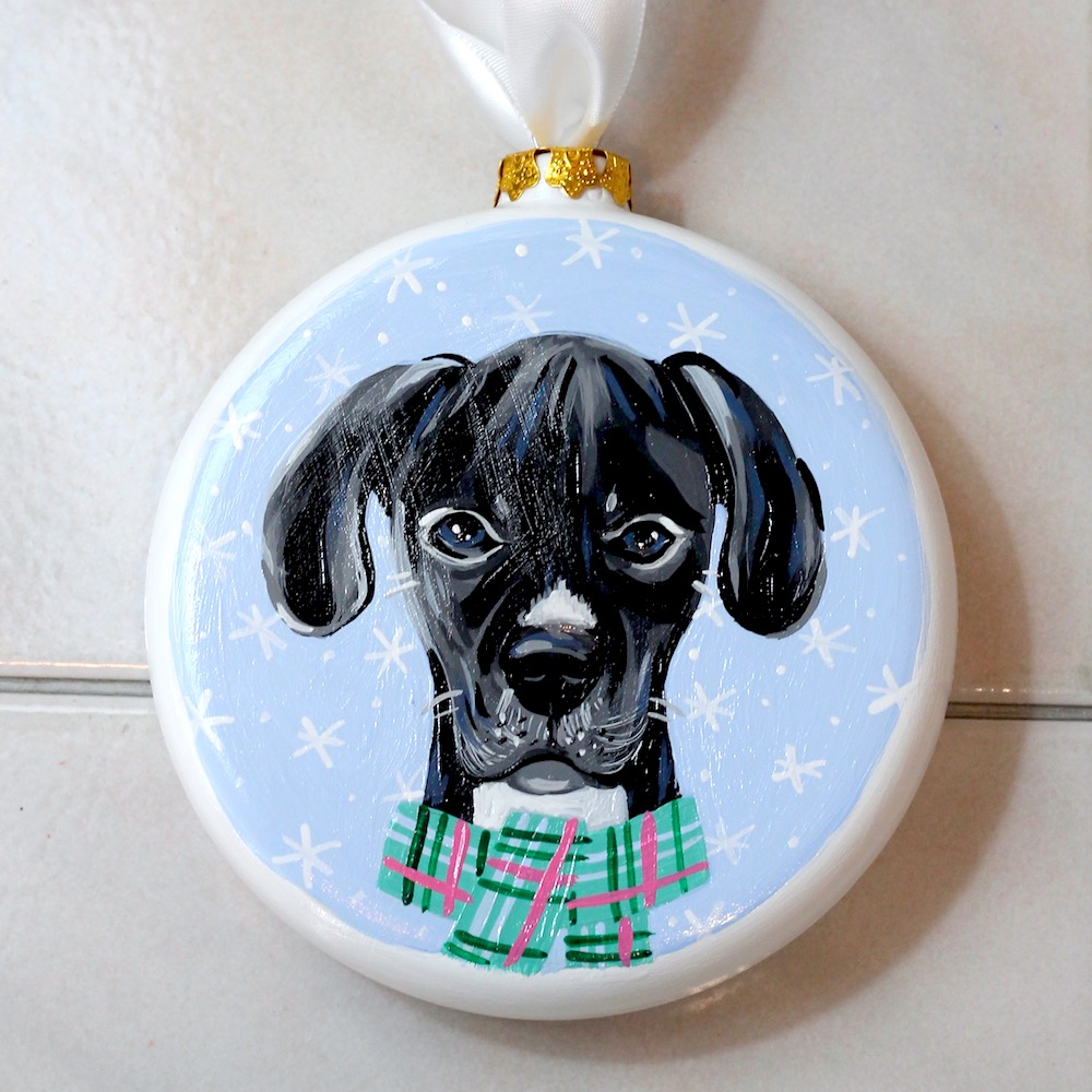 custom dog ornament