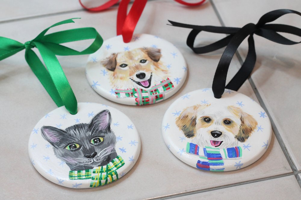 cute custom pet portraits by michelle schneider