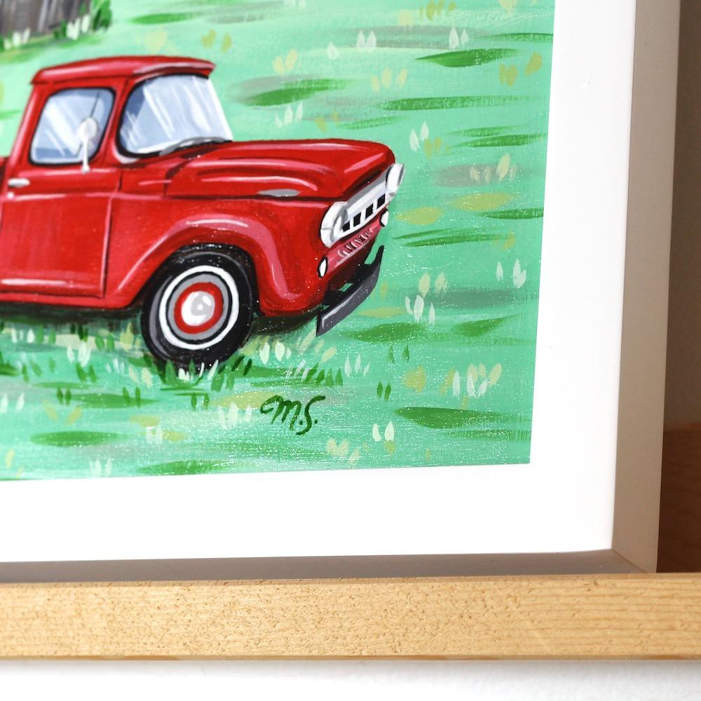 custom truck painting, custom portraits, michelle schneider