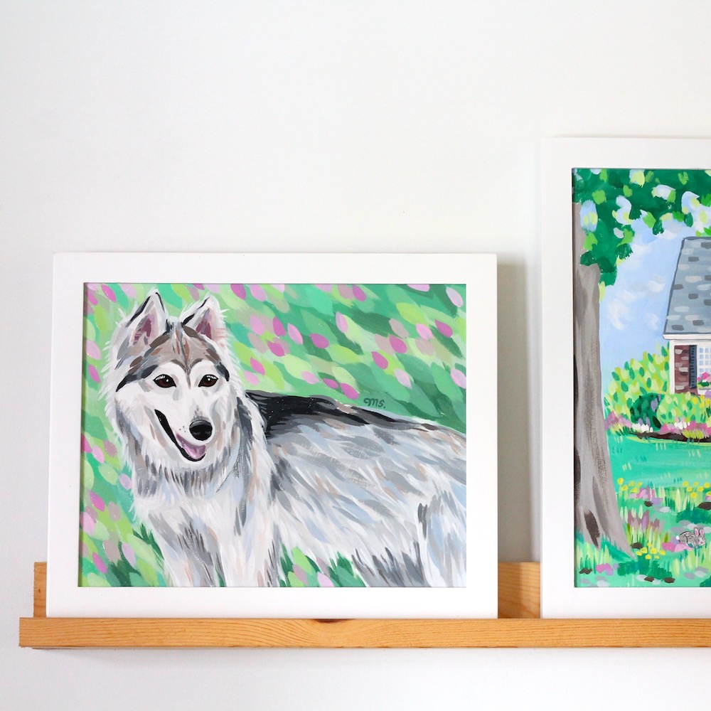 custom pet portrait, christmas gift idea, birthday gift idea