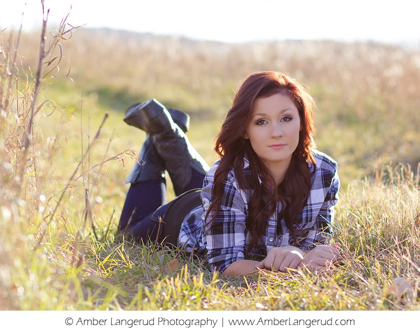 High School Senior Outdoor Fall Sunset Shoot | Detroit Lakes High School Senior Photographer | Amber Langerud Photography
