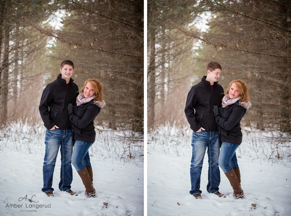 Detroit Lakes, Fargo/Moorhead Area Engagement Photographer | Winter Outdoor Engagement Pictures