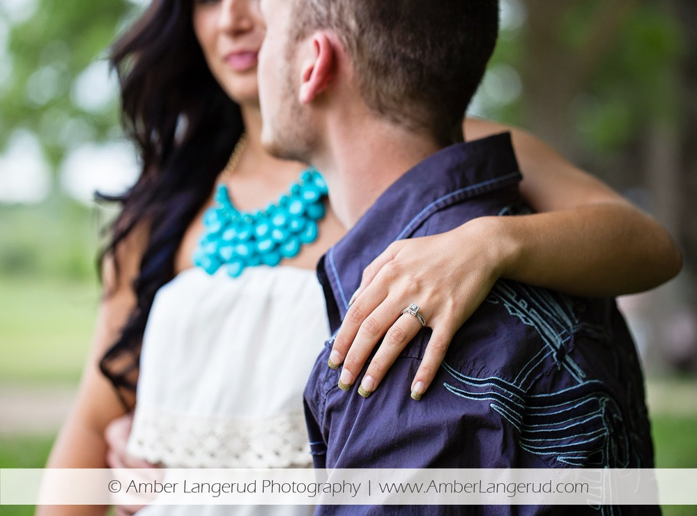Outdoor Country Engagement Pictures | Detroit Lakes Area Photographer | Engagement Photos focus on the ring