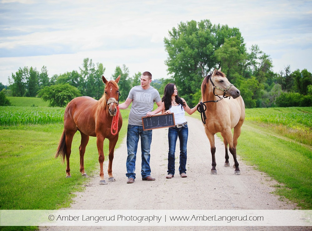 Outdoor Country Engagement Pictures | Detroit Lakes Area Photographer | Engagement Pictures with Horses