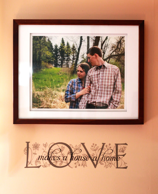 Portrait Wall Display Idea; engaged; love; home decoration