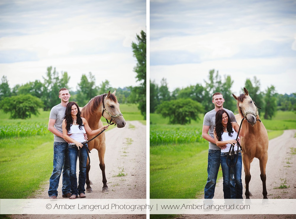 Outdoor Country Engagement Pictures | Detroit Lakes Area Photographer | Engagement Photos with Horses