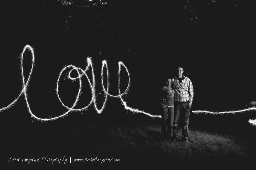 Sparkler engagement pictures | Detroit Lakes Area Photographer | Amber Langerud Photography